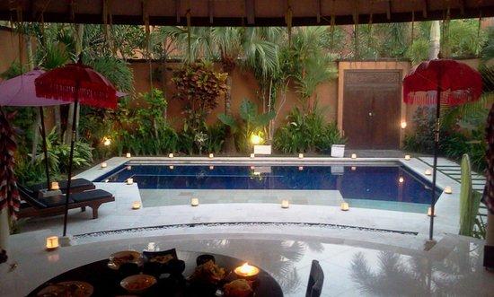 The Kunja Villas & Spa: From bedroom after bbq