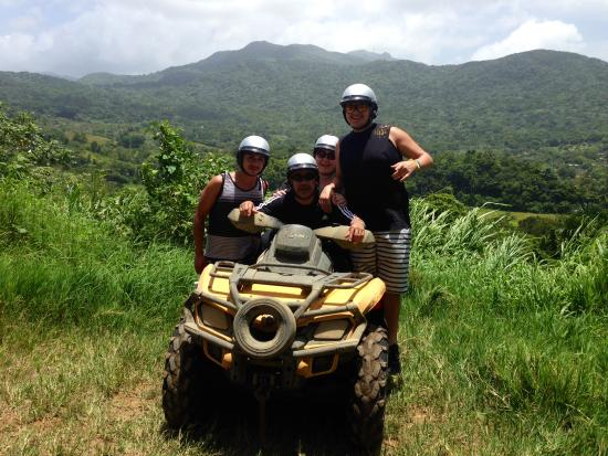 Carabali Rainforest Park: ATV photo op!