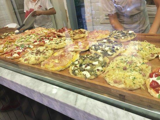 Pinsere: Vista de las pizzas