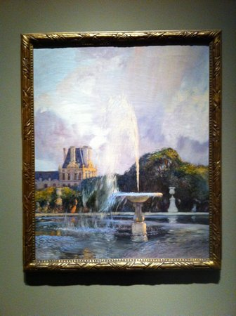 Portland Art Museum: One of the paintings on display for the Tuileries exhibition, by Gaston de la Touche, c. 1890 -