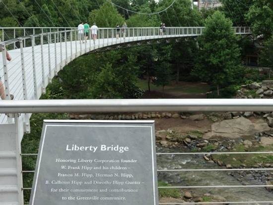 Falls Park on the Reedy: Liberty Bridge