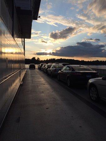 Lake Champlain: Cars on the ferry to Plattsburgh