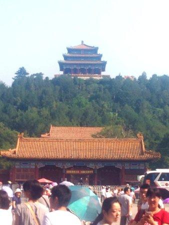 Jingshan Park (Jingshan Gongyuan): View from inside Forbidden City