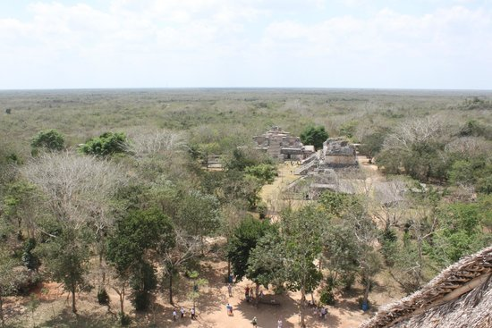 Ek Balam Mayan Ruins: View from the top of the big building