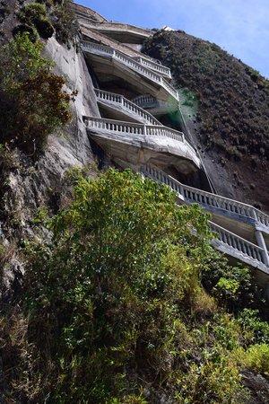 Piedra del Peñol: Escaleras