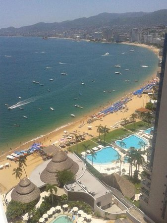 Grand Hotel Acapulco: View from our room.