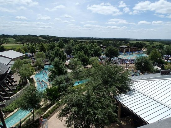JW Marriott San Antonio Hill Country Resort & Spa: View from the Water slides tower.