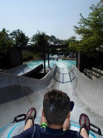 "JW Marriott San Antonio Hill Country Resort & Spa : Landing of the Cibolo Falls ""tower"" slides."