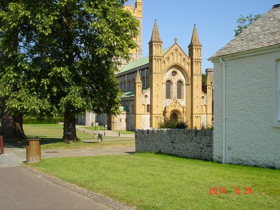 Buckfast Abbey : The Abbey from the entrance.