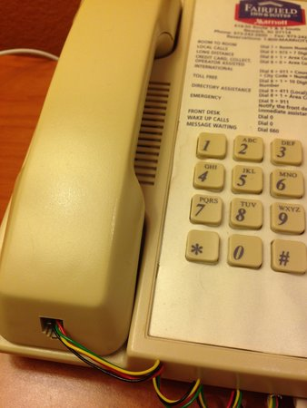 Fairfield Inn & Suites by Marriott Newark Liberty International Airport : Telephone cord needs to be replaced.