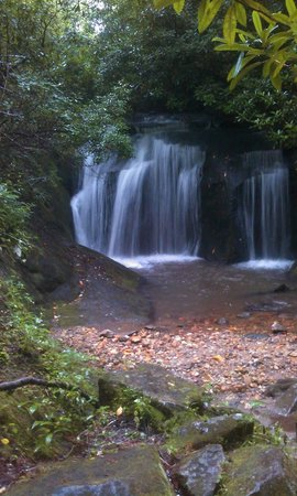 Valley Springs Lodging: Waterfall is on their property!