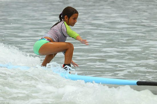 Blue Horizon Surf and Trips : Just turned 8 - first surf!