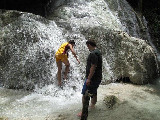 Aguinid Falls: Starting our climb.