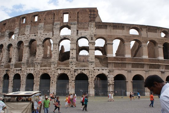 Paola your Personal Guide of Rome- Private day tours: The Colosseum - but you knew that hey?  We bought a great book from a local stall, showing prese