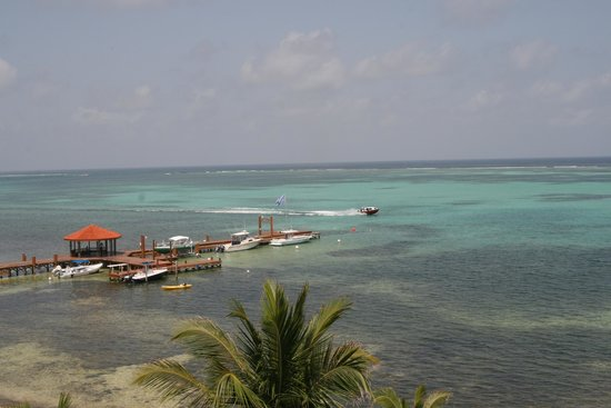 Grand Caribe Belize Resort and Condominiums: view sitting on our deck