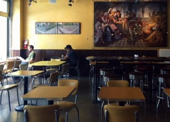 Espresso Vivace Roasteria: The coffee shop as seen from the cashier area