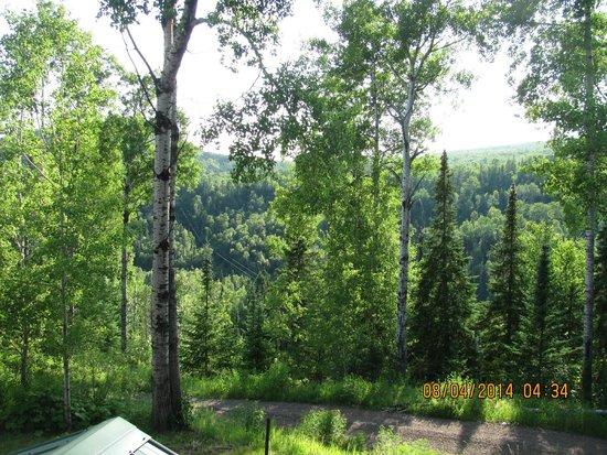 Eagle Ridge at Lutsen Mountain : Balcony view