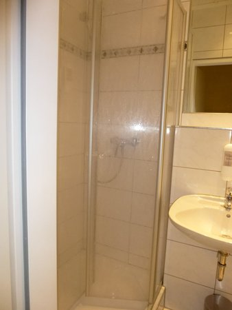 Hotel Tiergarten: Tiny shower