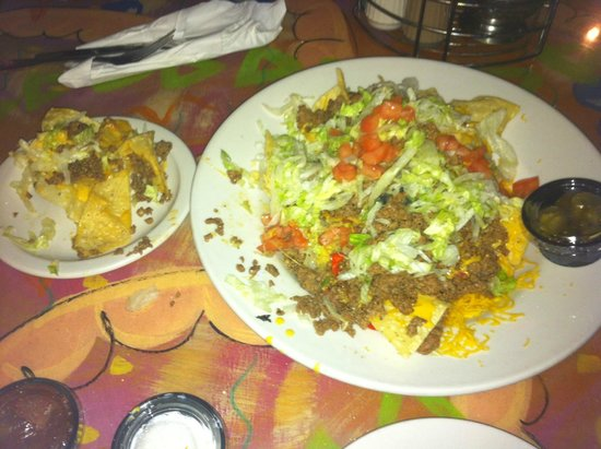 Speckled T's: Nachos with beef appetizer, GREAT!