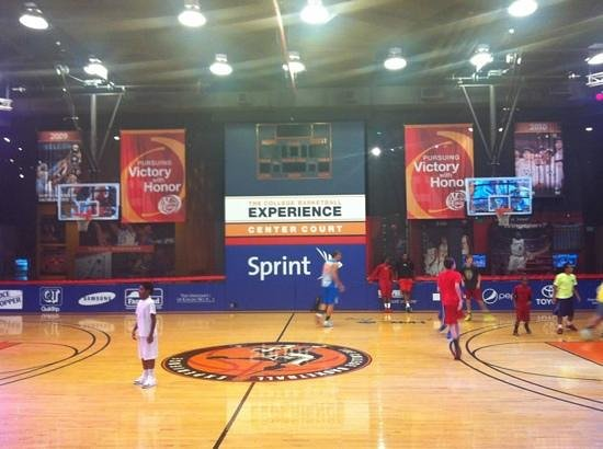 The College Basketball Experience: center court