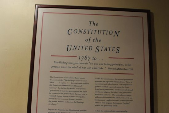 Independence Hall: The constitution