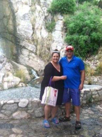 Loews Ventana Canyon Resort: The waterfall on the desert walk.