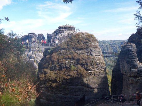 Bastei: Part of the paid tour as you walk on bridges.