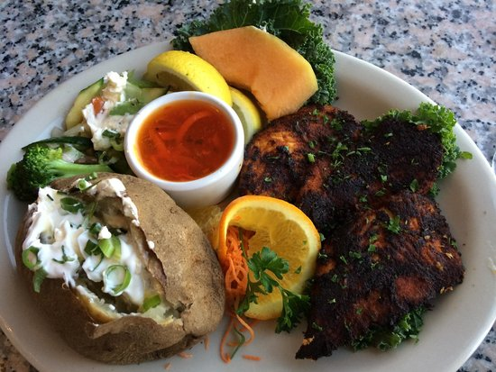 Portside: Cajun blackened halibut