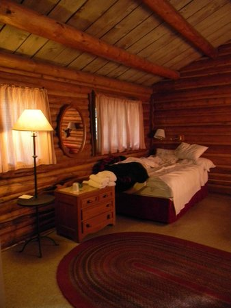 Colter Bay Village: a two bedroom cabin, each room had two double beds