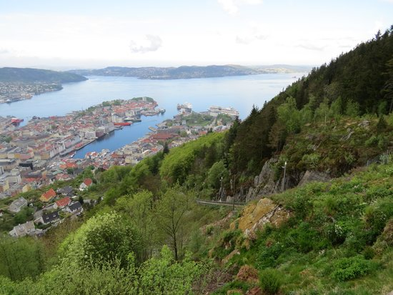 Radisson Blu Royal Hotel, Bergen: Panoramic view from Mt Floyen, Bergen