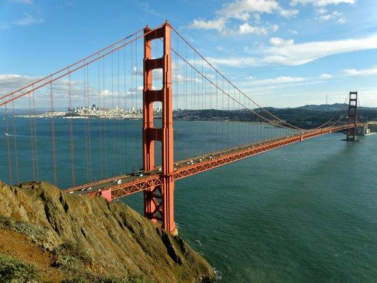 Marin Headlands: Golden Gate Bridge, with San Francisco beyond
