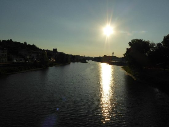 Italy Cruiser Bike Tours : Sunset over Florence