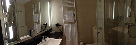 IntercityHotel Berlin Hauptbahnhof: Room 210 bathroom