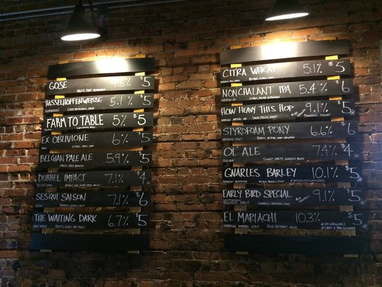 Aardwolf Brewing Company: Beers on tap the day we visited