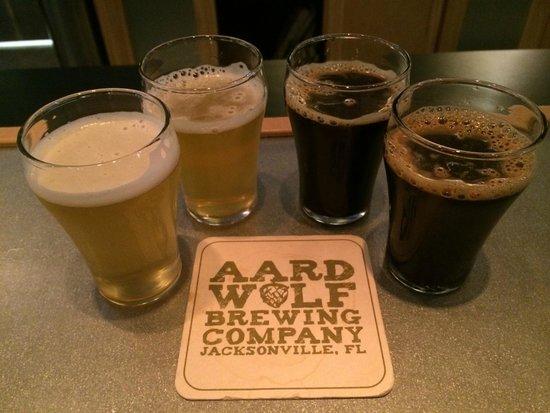 Aardwolf Brewing Company: Aardwolf beer flight