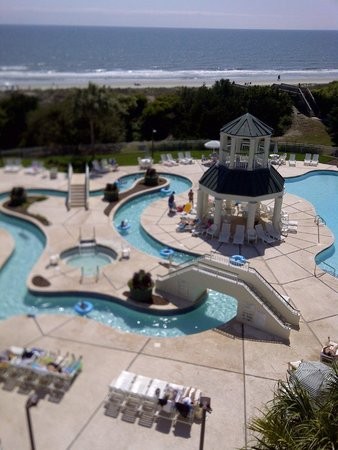 Litchfield Beach & Golf Resort : View from room of Lazy River, Hot Tub & Outdoor Pool