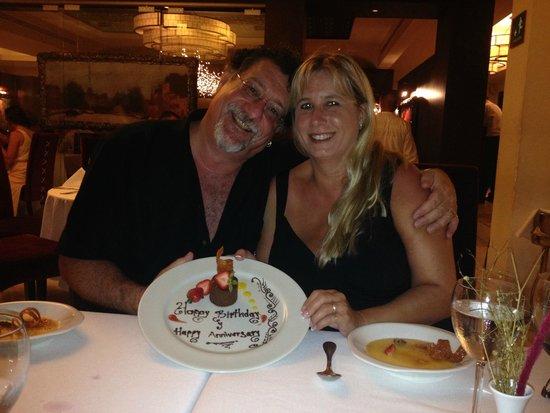 Hyatt Ziva Los Cabos: Anniversary Dinner Dessert