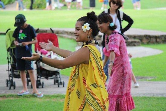 Polynesian Cultural Center: フラレッスン