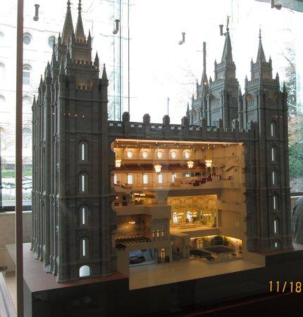 Salt Lake Temple: Model of Temple in Museum Area, Salt Lake City, Utah
