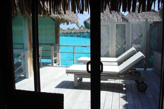 The St. Regis Bora Bora Resort: took a great swim off our back patio