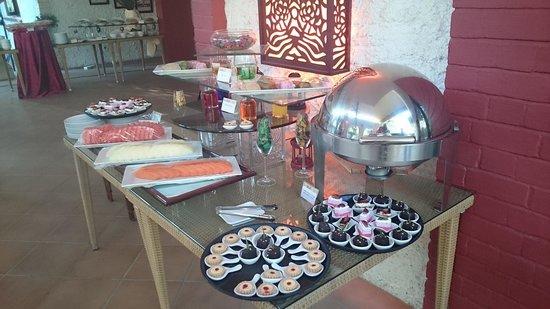 Maio Restaurant: dessert buffet counter at maio.....