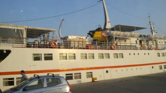Piraeus Region, Greece: The Aegean Glory at the port.