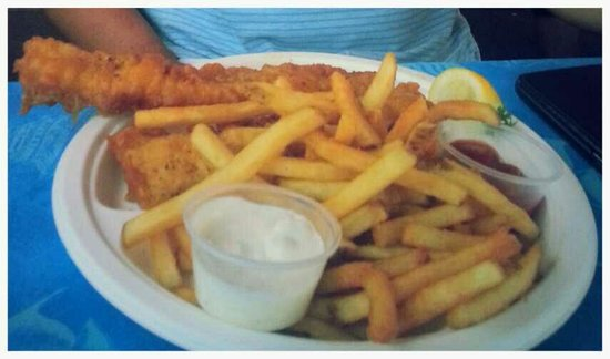 Harbor Fish Cafe: 2 piece fish n chips