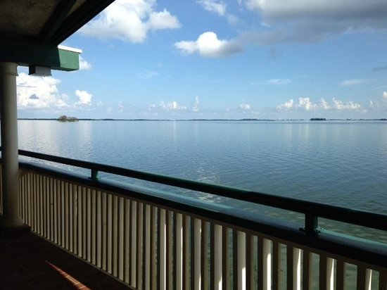 Best Western Plus Yacht Harbor Inn: view of caladesi & honeymoon islands from breezeway, north-side of all rooms