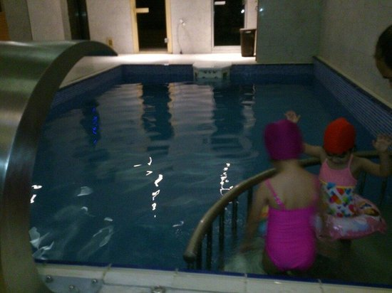 The Meretto Hotel : The swimming pool with a small corner for kids, second basement floor a high humid place