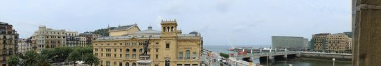Hotel Maria Cristina, a Luxury Collection Hotel, San Sebastian: A panorama from our balcony!