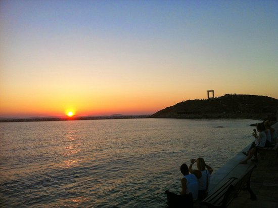 Naxian Collection : Sunset and Apollo's gate in the town of Naxos