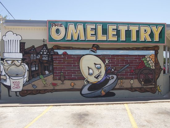 The Omelettry: The awesome mural!