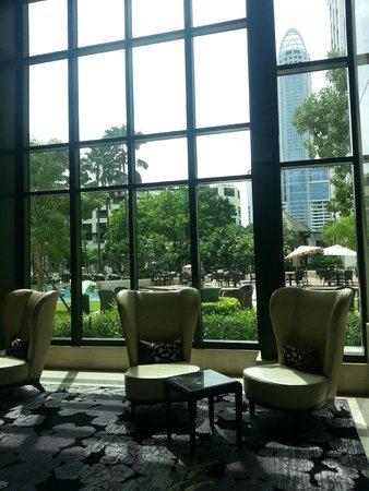 Siam Kempinski Hotel Bangkok: From inside the hotel lobby