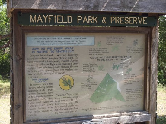 Mayfield Park : Signage